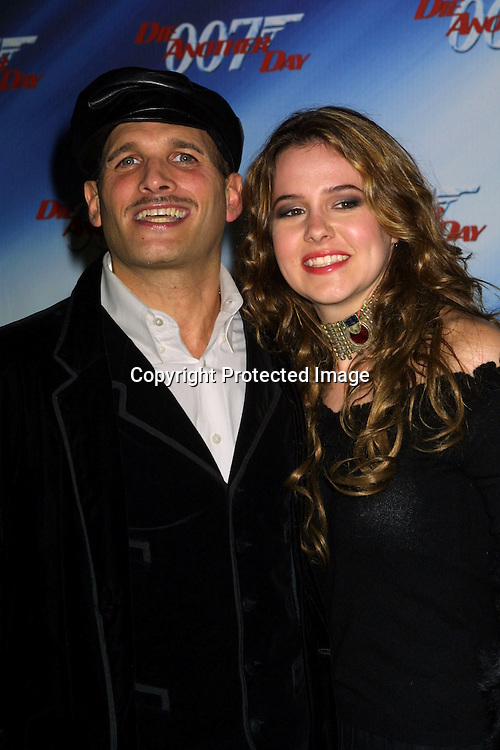 """©2002 KATHY HUTCHINS / HUTCHINS PHOTO."""" DIE ANOTHER DAY ' SCREENING.LOS ANGELES, CA. 11/11/02. PHILLIP BLOCH AND MARIEH DELFINO"""