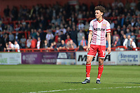Luke Amos of Stevenage during Stevenage vs Cambridge United, Sky Bet EFL League 2 Football at the Lamex Stadium on 14th April 2018