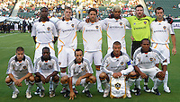 Los Angeles Galaxy starting XI. LA Galaxy defeated DC United 2-0 in the Semi Final of the SuperLiga at the Home Depot Center in Carson, California, Wednesday, August 15, 2007.