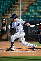 Jackson Generals Drew Ellis (29) at bat during a Southern League game against the Mississippi Braves on July 23, 2019 at The Ballpark at Jackson in Jackson, Tennessee.  Jackson defeated Mississippi 2-0 in the first game of a doubleheader.  (Mike Janes/Four Seam Images)