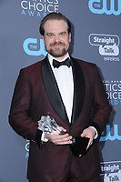 11 January 2018 - Santa Monica, California - David Harbour. 23rd Annual Critics' Choice Awards held at Barker Hangar. <br /> CAP/ADM/BT<br /> &copy;BT/ADM/Capital Pictures