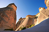 "Pictures & images of the fairy chimney cave churches of ""Pasaba Valley"" near Goreme National Park, Cappadocia, Nevsehir, Turkey"