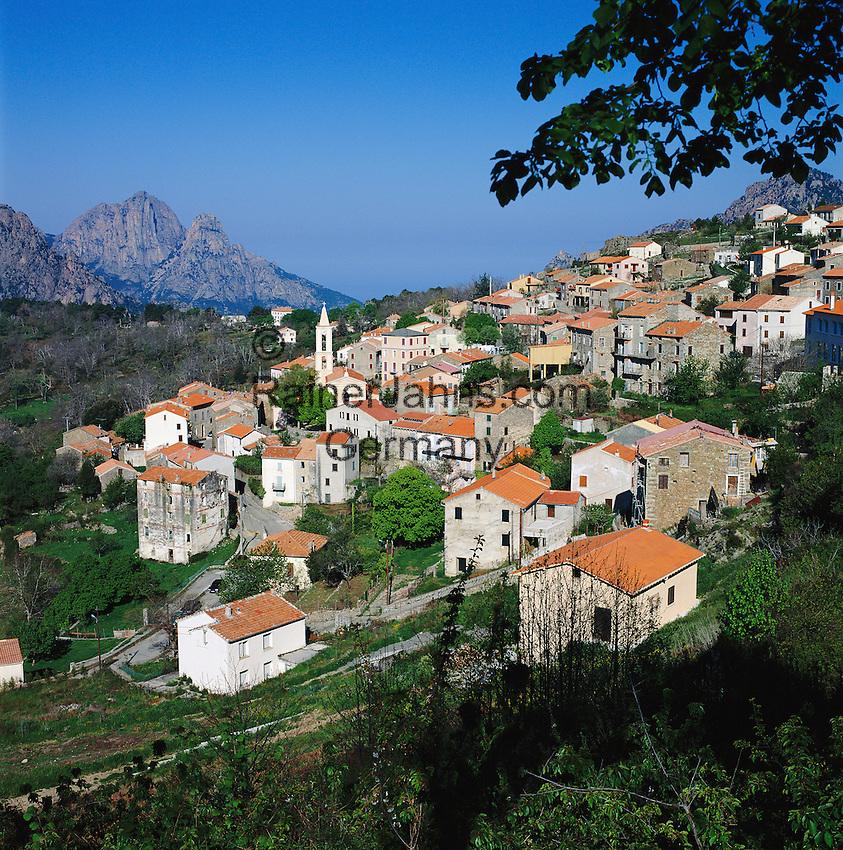France, Corsica, Evisa: Mountain Village | Frankreich, Korsika, Evisa: Bergdorf