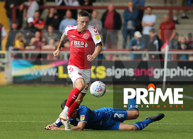Ashley Hunter of Fleetwood Town on the attacking during the Sky Bet League 1 match between Fleetwood Town and Rochdale at Highbury Stadium, Fleetwood, England on 18 August 2018. Photo by Stephen Gaunt / PRiME Media Images.