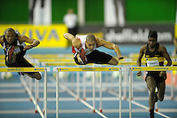 Photo: Ady Kerry/Richard Lane Photography.. Aviva European Trials and UK Championships, 15/02/2009..Nick Gayle 60m hurdles hetas.