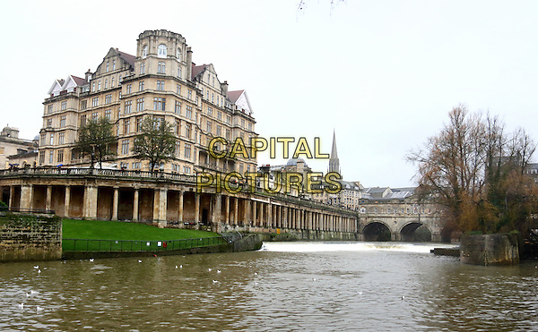 The Pulteney Bridge, Bath, Somerset, England on December 30th 2015<br /> CAP/ROS<br /> &copy;Steve Ross/Capital Pictures
