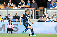 San Jose, CA - Saturday March 31, 2018: Tommy Thompson during a Major League Soccer (MLS) match between the San Jose Earthquakes and New York City FC at Avaya Stadium.
