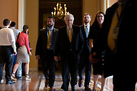 United States Senate Majority Leader Mitch McConnell (Republican of Kentucky) leaves the Senate Floor on Capitol Hill in Washington D.C., U.S. on July 31, 2019. Photo Credit: Stefani Reynolds/CNP/AdMedia