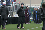06 December 2009: Stanford head coach Paul Ratcliffe. The University of North Carolina Tar Heels defeated the Stanford University Cardinal 1-0 at Aggie Soccer Stadium in College Station, Texas in the NCAA Division I Women's College Cup Championship game.