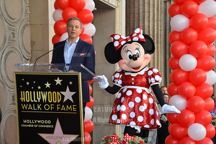 Robert A. Iger &amp; Minnie Mouse at the Hollywood Walk of Fame Star Ceremony honoring Disney character Minnie Mouse, Los Angeles, USA 22 Jan. 2018<br /> Picture: Paul Smith/Featureflash/SilverHub 0208 004 5359 sales@silverhubmedia.com