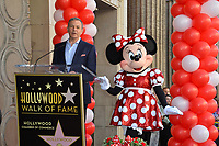 Robert A. Iger & Minnie Mouse at the Hollywood Walk of Fame Star Ceremony honoring Disney character Minnie Mouse, Los Angeles, USA 22 Jan. 2018<br /> Picture: Paul Smith/Featureflash/SilverHub 0208 004 5359 sales@silverhubmedia.com