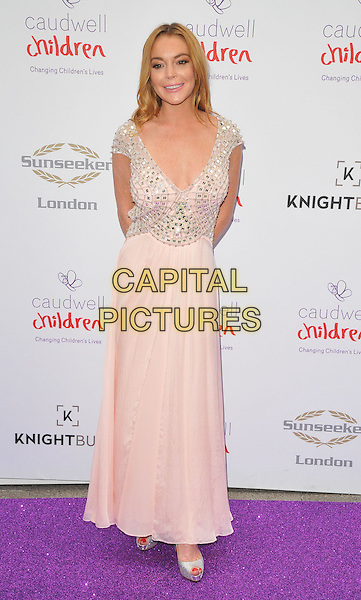 Lindsay Lohan at the Caudwell Children Butterfly Ball, Grosvenor House Hotel, Park Lane, London, England, UK, on Wednesday 22 June 2016.<br /> CAP/CAN<br /> &copy;CAN/Capital Pictures