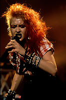 File Photo -  Cindy Lauper<br />   in the eighties. Exact date unkonwn.<br /> <br /> <br /> <br /> photo  : Harold Beaulieu<br />  -  Agence Quebec Presse