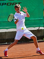 August 9, 2014, Netherlands, Rotterdam, TV Victoria, Tennis, National Junior Championships, NJK,  Final boys 14 years Alec Deckers (NED)  <br /> Photo: Tennisimages/Henk Koster