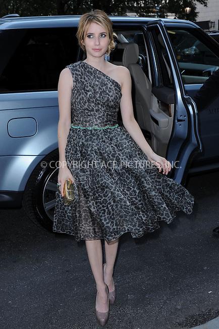 WWW.ACEPIXS.COM . . . . . .September 13, 2011 New York City.....Emma Roberts attends the Marchesa Fashion Show at the Plaza Hotel on September 13, 2011 in New York City....Please byline: KRISTIN CALLAHAN - ACEPIXS.COM.. . . . . . ..Ace Pictures, Inc: ..tel: (212) 243 8787 or (646) 769 0430..e-mail: info@acepixs.com..web: http://www.acepixs.com .
