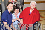Elaine Sheehan, Mary Reidy and Rose Murphy at the Tralee Community Nursing Unit on Friday.
