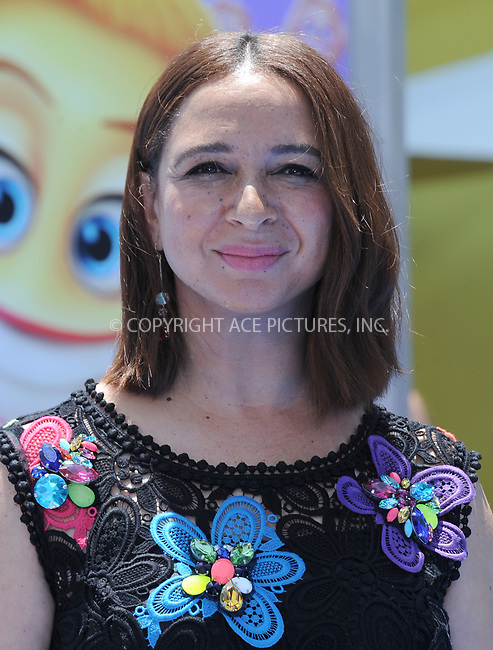 www.acepixs.com<br /> <br /> July 23 2017, LA<br /> <br /> Maya Rudolph arriving at the premiere of 'The Emoji Movie' at the Regency Village Theatre on July 23, 2017 in Westwood, California. <br /> <br /> By Line: Peter West/ACE Pictures<br /> <br /> <br /> ACE Pictures Inc<br /> Tel: 6467670430<br /> Email: info@acepixs.com<br /> www.acepixs.com