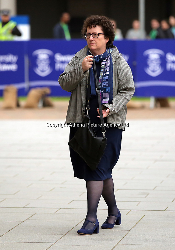 Pictured: Elin Jones AM arrives at Swansea University Bay Campus. Saturday 14 October 2017<br /> Re: Hilary Clinton, the former US secretary of state and 2016 American presidential candidate will be presented with an honorary doctorate during a ceremony at Swansea University's Bay Campus in Wales, UK, to recognise her commitment to promoting the rights of families and children around the world.<br /> Mrs Clinton's great grandparents were from south Wales.