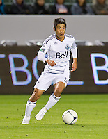 CARSON, CA - March 17, 2012: Vancouver Whitecaps FC Lee Young-Pyo (12) during the Chivas USA vs Vancouver Whitecaps FC match at the Home Depot Center in Carson, California. Final score Vancouver Whitecaps 1, Chivas USA 0.