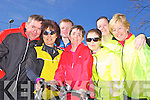 Getting ready for the annual Kerry/Limerick charity cycle were Kerry Crusaders members Mike McCarthy, Dee Keogh, Sean Gallagher, Noreen Lynch, Bernie Kennelly, Christine Purcell and Geraldine Gallagher, pictured here last Sunday morning in Athea.