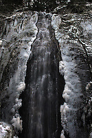 Bridalveil Falls in winter, Hwy 50