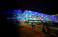 Aug. 6, 2008; Beijing, CHINA; Exterior view of the National Aquatics Center. The Olympics begin at 8pm on August 8, 2008. Mandatory Credit: Mark J. Rebilas-