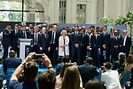 Real Madrid's with Madrid Mayor Manuela Carmena at Crystal Gallery of the Palacio de Cibeles in Madrid, May 22, 2017. Spain.<br /> (ALTERPHOTOS/BorjaB.Hojas)