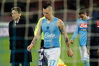 Marek Hamsik  during the Italian Serie A soccer match between SSC Napoli and AC Fiorentina   at San Paolo stadium in Naples, March 22 , 2014