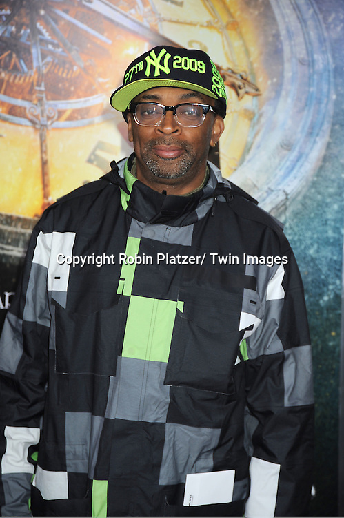 "Spike Lee  attends The World Premiere of ""Hugo in 3D"" on November 21, 2011 at The Ziegfeld Theatre in New York City."
