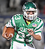 Danny Roell #23 of Seaford rushes for a gain during the Nassau County varsity football Conference IV semifinals against Locust Valley at Hofstra University on Saturday, Nov. 12, 2016. Seaford won by a score of 28-14.