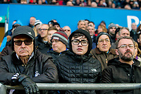 Swansea City Fans <br /> Re: Behind the Scenes Photographs at the Liberty Stadium ahead of and during the Premier League match between Swansea City and Bournemouth at the Liberty Stadium, Swansea, Wales, UK. Saturday 25 November 2017