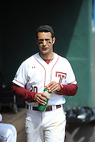 Temple University Owls infielder Robert Amaro (20) before a game against the University of South Florida Bulls at Campbell's Field on April 13, 2014 in Camden, New Jersey. USF defeated Temple 6-3.  (Tomasso DeRosa/ Four Seam Images)
