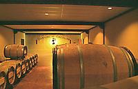 Oak barrel aging and fermentation cellar. Domaine du Chevalier. Graves, Pessac Leognan Bordeaux France