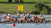 Rotterdam. Netherlands.  Swimmers o out to congratulate the NED BM 8+ after winning the A Final at the  2016 JWRC, U23 and Non Olympic Regatta. {WRCH2016}  at the Willem-Alexander Baan.   Friday  26/08/2016 <br /> <br /> [Mandatory Credit; Peter SPURRIER/Intersport Images]