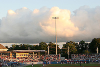 July 4, 2009:  The Batavia Muckdogs saw a large crowd to celebrate the 4th of July  a game at Dwyer Stadium in Batavia, NY.  The Muckdogs are the NY-Penn League Short-Season Class-A affiliate of the St. Louis Cardinals.  Photo By Mike Janes/Four Seam Images