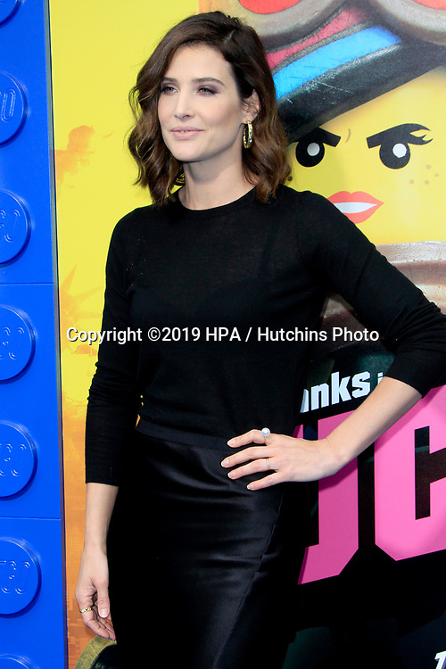 """LOS ANGELES - FEB 2:  Cobie Smulders at """"The Lego Movie 2: The Second Part"""" Premiere at the Village Theater on February 2, 2019 in Westwood, CA"""
