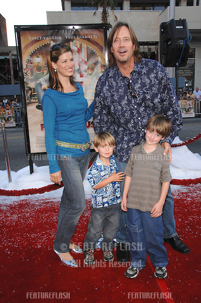 """Kevin Sorbo & family at the Los Angeles premiere of """"Fred Claus"""" at Grauman's Chinese Theatre, Hollywood, CA..November 3, 2007  Los Angeles, CA.Picture: Paul Smith / Featureflash"""