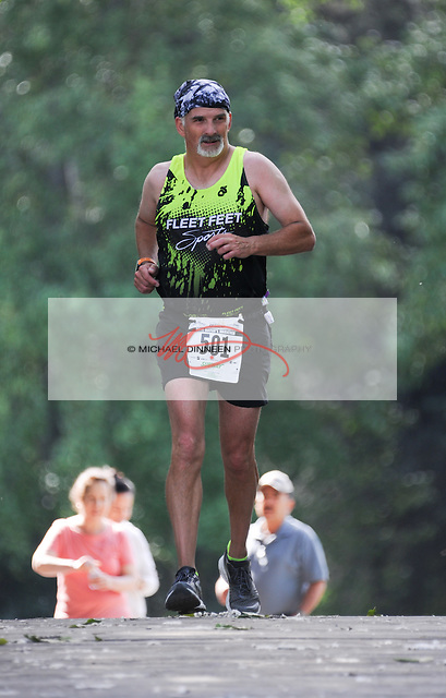 Michael Wright of Eagle River at the 22-mile mark of the marathon. Photo for the Star by Michael Dinneen