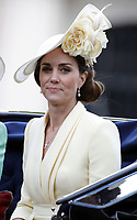 LONDON, ENGLAND - JUNE 08: Duchess of Cambridge at Trooping The Colour, the Queen's annual birthday parade, on June 08, 2019<br /> CAP/GOL<br /> ©GOL/Capital Pictures