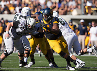 Saturday, September 7, 2013: Deandre Coleman works his way through Portland State offense during a game at Memorial Stadium, Berkeley, California - California defeated Portland State 37 - 30