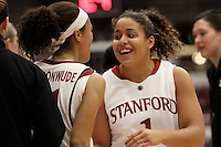 STANFORD, CA - JANUARY 14:  Grace Mashore of the Stanford Cardinal during Stanford's 80-43 win over the Washington State Cougars on January 14, 2009 at Maples Pavilion in Stanford, California.