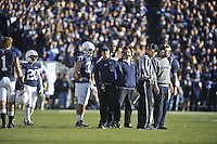 12 November 2011:  Penn State FB Joe Suhey (37), interim head coach Tom Bradley, QB coach Jay Paterno, and T/TEs coach Bill Kenny. The Nebraska Cornhuskers defeated the Penn State Nittany Lions 17-14 at Beaver Stadium in State College, PA..