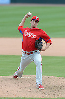 Philadelphia Phillies pitcher Ken Giles (76) during a spring training game against the Baltimore Orioles on March 7, 2014 at Ed Smith Stadium in Sarasota, Florida.  Baltimore defeated Philadelphia 15-4.  (Mike Janes/Four Seam Images)