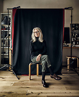 "Sally Potter is an English film director and screenwriter. Photographed in London at her production office. Potter has a new movie ""The Party"" coming out."