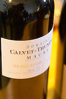 Maury Vin Doux Naturel. Domaine Calvet Thunevin. Roussillon, France
