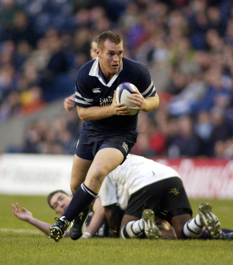 Photo. Jed Wee.Scotland v Fiji, Rugby Union International, Murrayfield, Edinburgh, Scotland. 24-11-2002..Scotland's Chris Paterson.