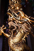 Golden Chinese Dragon at Kek Lok Si Temple or Temple of Supreme Bliss, a Buddhist temple situated in Penang and  one of the best known temples on the island. It is said to be the largest Buddhist temple in Southeast Asia.