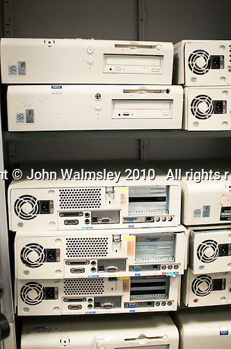 Obsolete computers used for teaching how older technologies worked.  Computer Studies class, Kingston College.