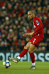 Fabinho of Liverpool during the UEFA Champions League match at Anfield, Liverpool. Picture date: 27th November 2019. Picture credit should read: Andrew Yates/Sportimage