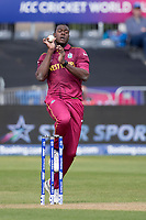 Carlos Braithwaite (West Indies) in action during West Indies vs New Zealand, ICC World Cup Warm-Up Match Cricket at the Bristol County Ground on 28th May 2019